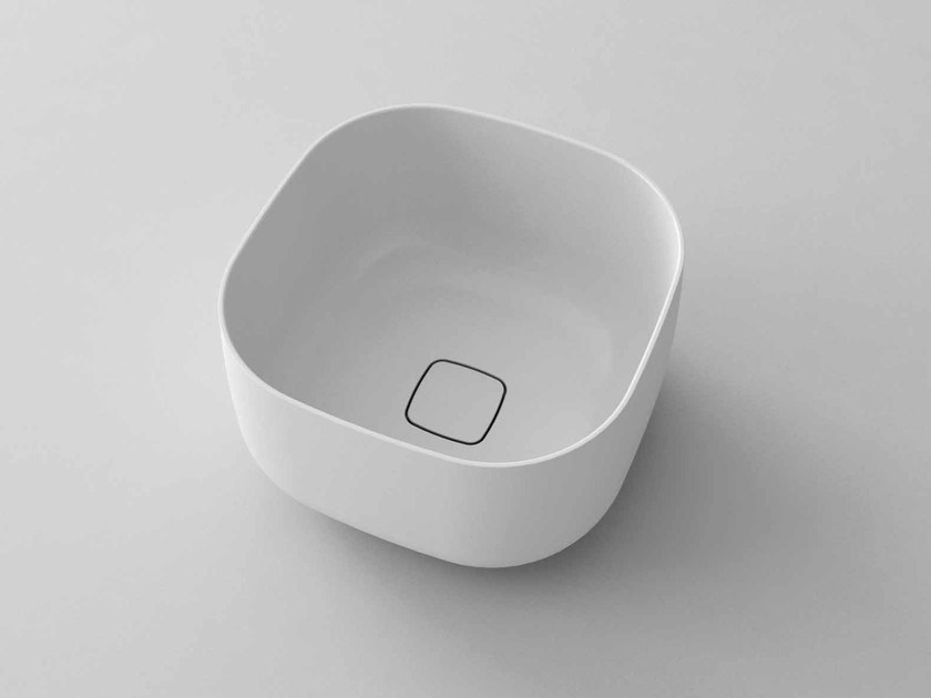 Countertop square washbasin POP-Q by Flora Style