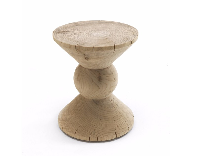 Cedarwood stool POP by Riva 1920