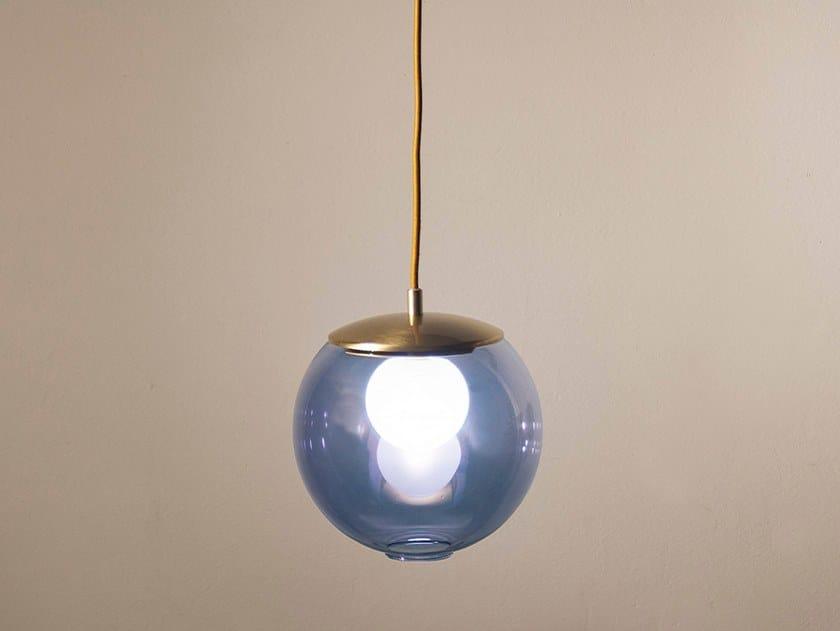 Handmade metal and glass pendant lamp POP S20 by Luz Difusión