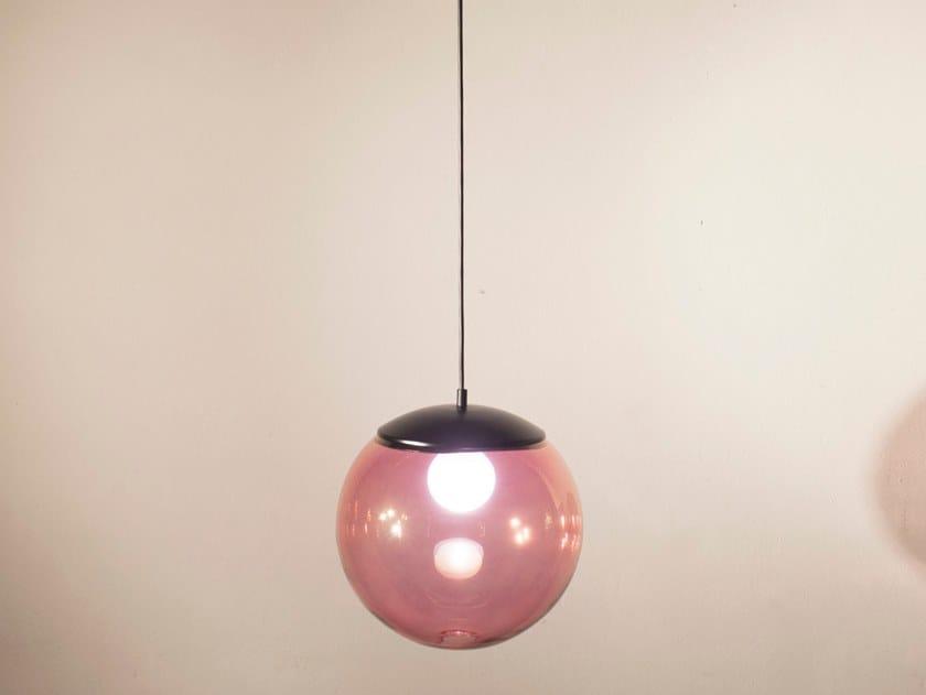 Handmade metal and glass pendant lamp POP S30 by Luz Difusión