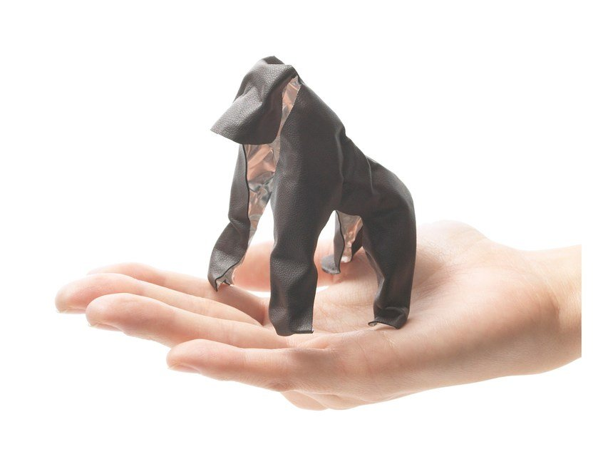 Imitation leather decorative object POP UP ANIMAL GORILLA by Plus D