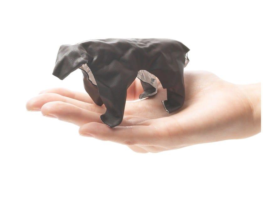 Imitation leather decorative object POP UP ANIMAL BEAR by plus-d