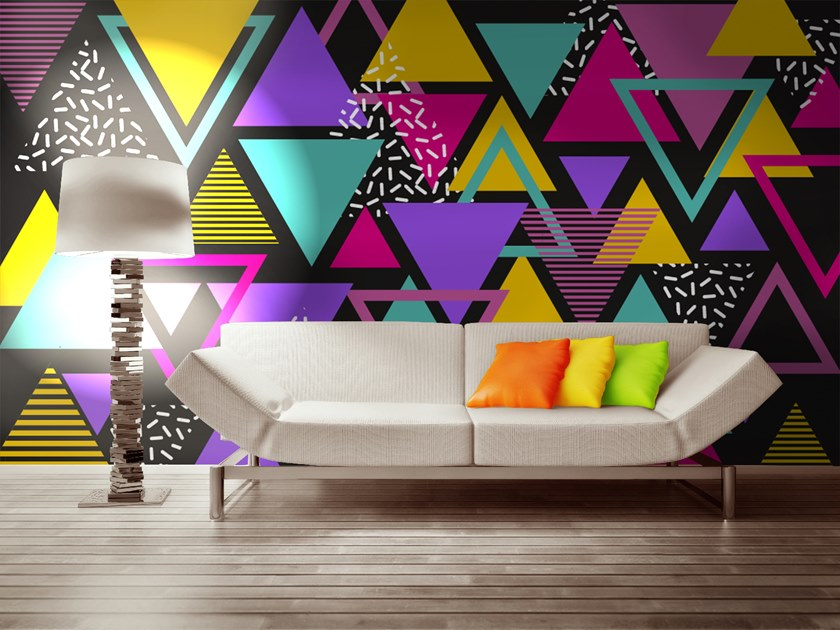 Motif geometric wallpaper POP by Wall LCA
