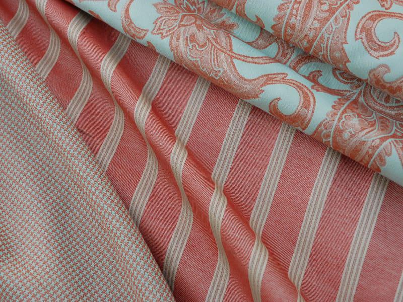 Striped reversible jacquard fabric POPCOLOR RIGA by l'Opificio