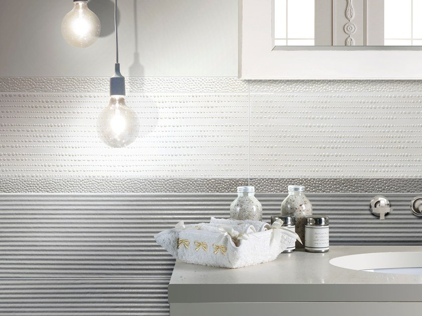 Indoor white-paste wall tiles PORCELLANA PERLE by CERAMICHE BRENNERO