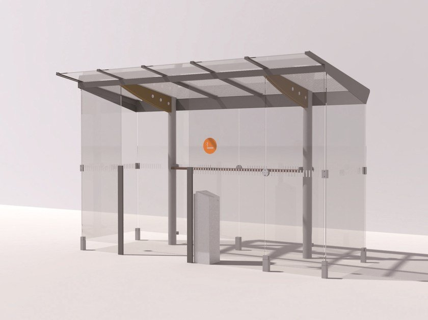 Galvanized steel porch for smokers REGIO | Porch for smokers by mmcité1