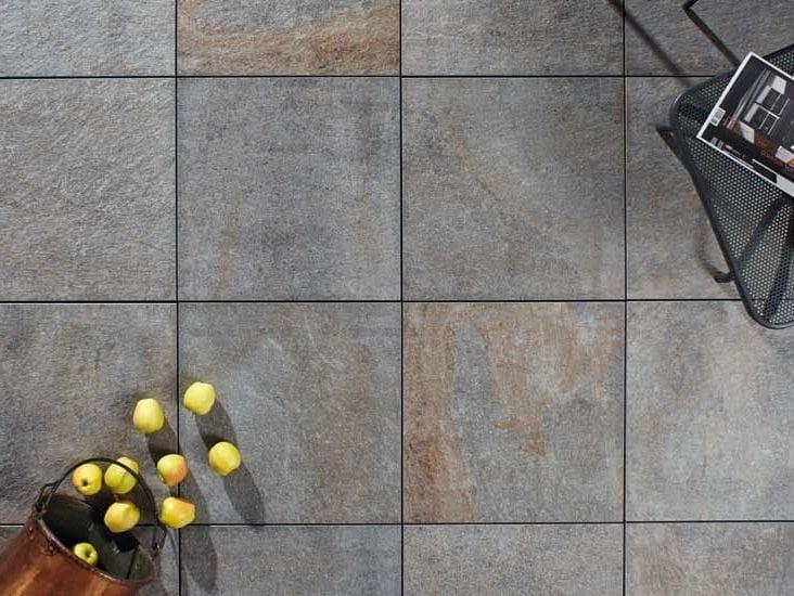 Outdoor floor tiles with stone effect PORFIDO LAVIS by GRANULATI ZANDOBBIO
