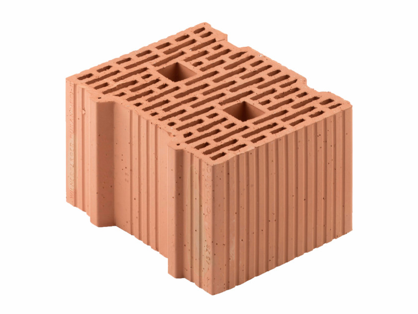 Loadbearing clay block for reinforced masonry Porotherm 30-25/19 by Wienerberger