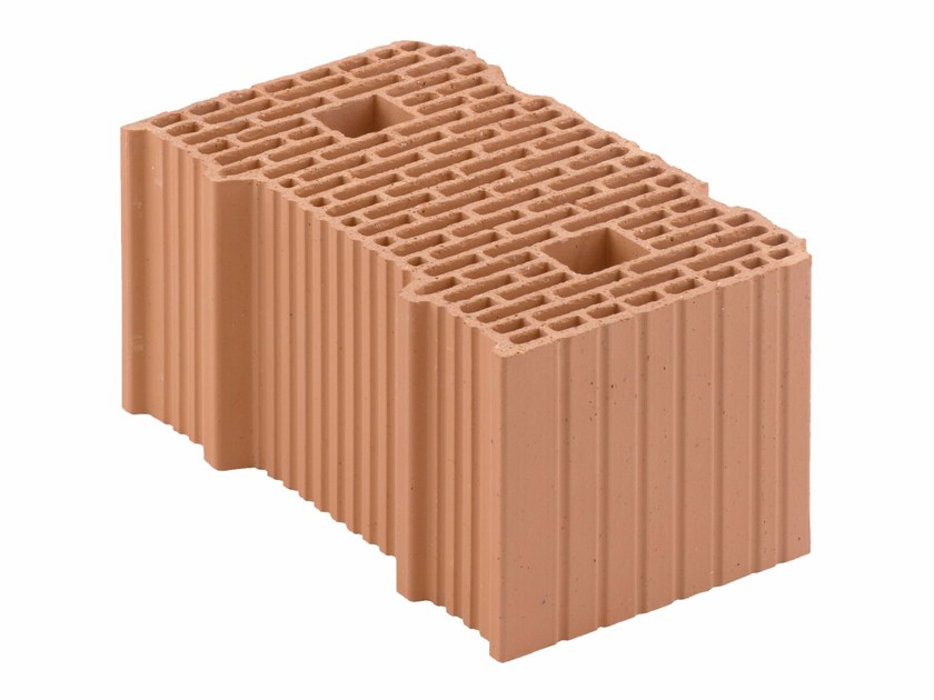 Loadbearing clay block for reinforced masonry Porotherm BIO 40-24/19 by Wienerberger