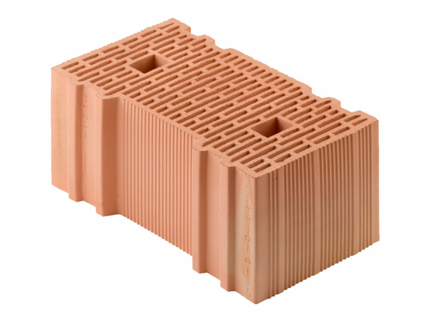 Loadbearing clay block for reinforced masonry Porotherm BIO 45-25/19 by Wienerberger