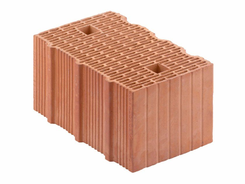 Loadbearing clay block for reinforced masonry Porotherm BIO PLAN 38-24/19,9 T - 0,09 by Wienerberger