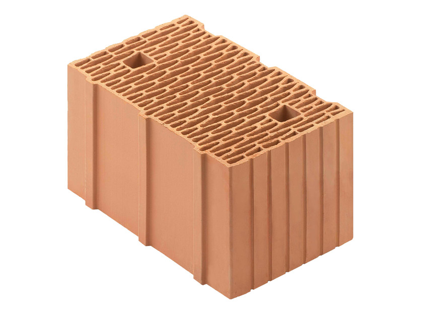 Loadbearing clay block for reinforced masonry Porotherm BIO PLAN 38-25/19,9 T - 0,11 by Wienerberger