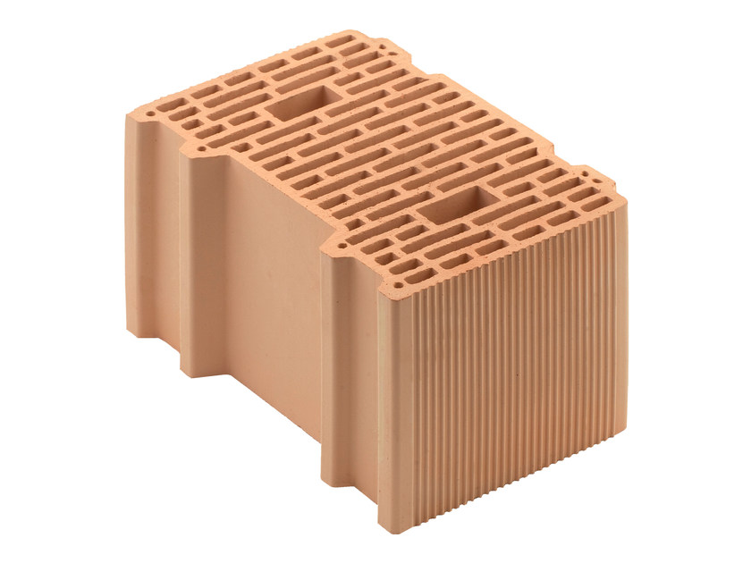 Loadbearing clay block for reinforced masonry Porotherm BIO PLAN 38-25/19,9 by Wienerberger