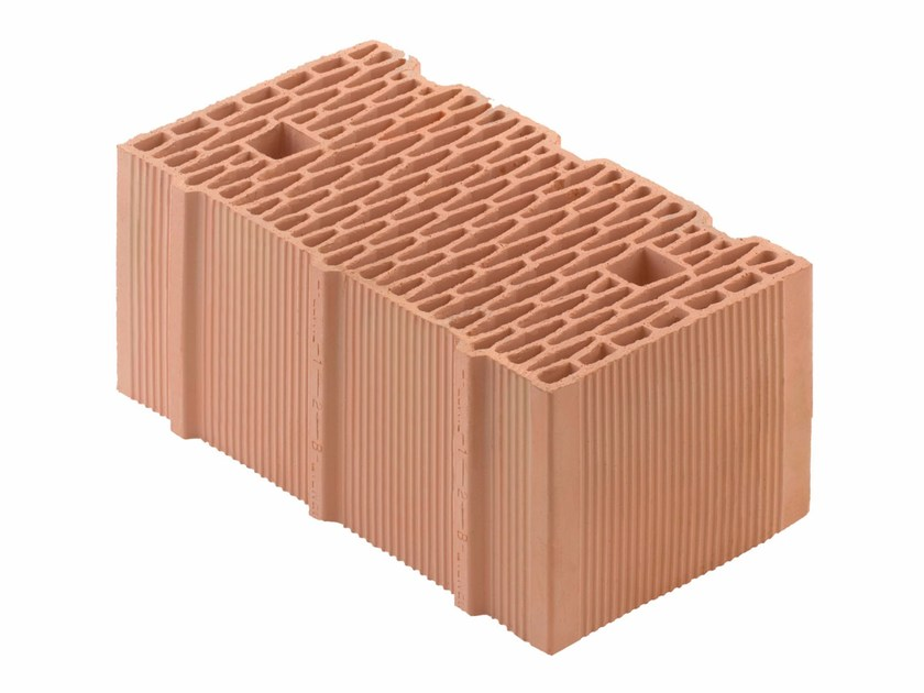 Loadbearing clay block for reinforced masonry Porotherm BIO PLAN 45-25/19,9 T - 0,11 by Wienerberger
