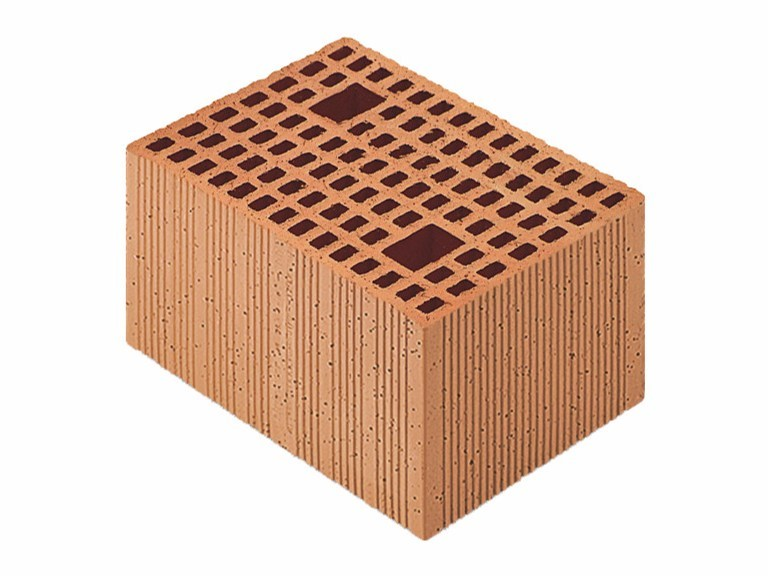 Loadbearing clay block for reinforced masonry Porotherm Modulare 35-25/19 (45 zs) by Wienerberger