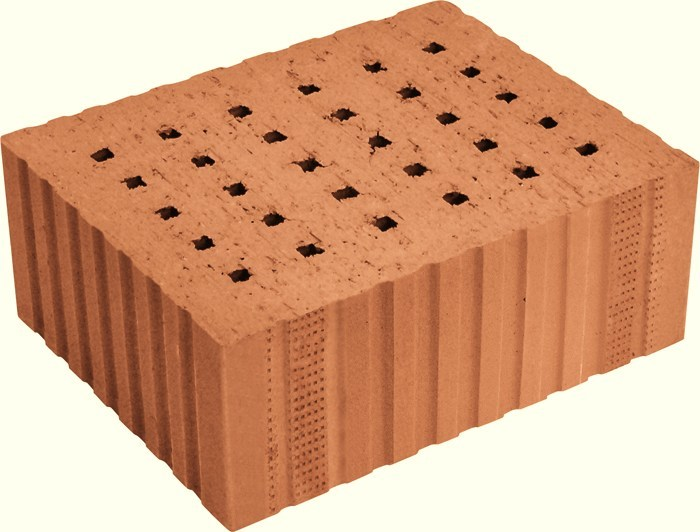 Loadbearing clay block for reinforced masonry Porotherm Sonico by Wienerberger