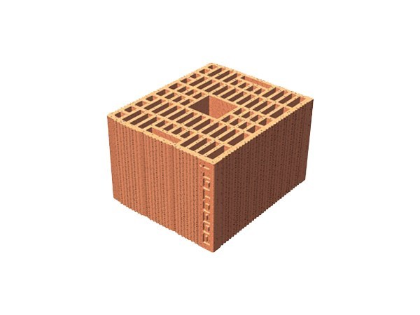 Loadbearing clay block for reinforced masonry POROTON® 25X30X19 by T2D