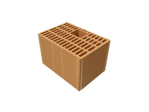 Loadbearing clay block for reinforced masonry POROTON®  30X21X18,5 by T2D