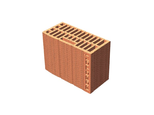 Loadbearing clay block for reinforced masonry POROTON® by T2D