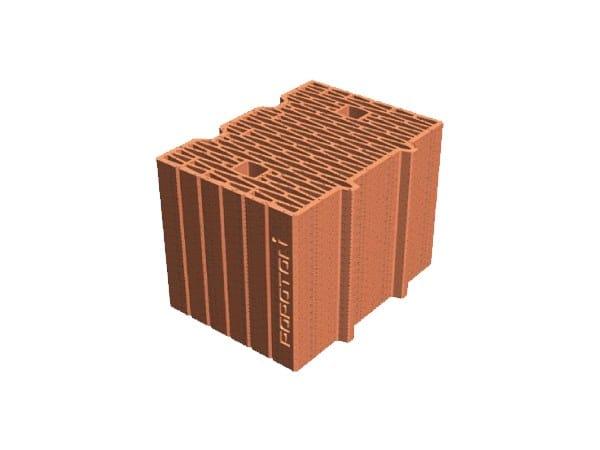 Blocco per tamponamento in laterizio POROTON® PLAN 34X24,5X23,5 by T2D
