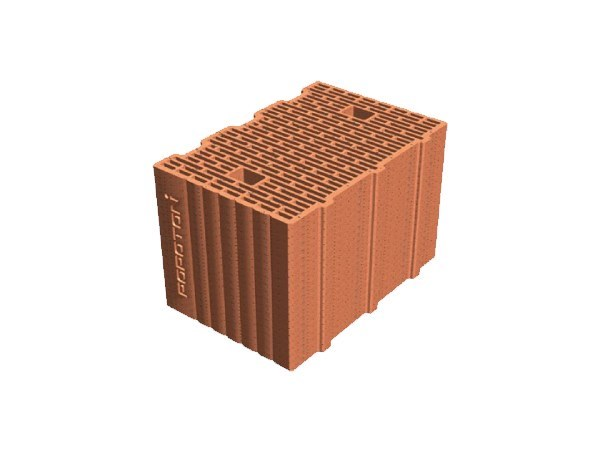 External masonry clay block POROTON® PLAN 36,5X24,5X23,5 by T2D