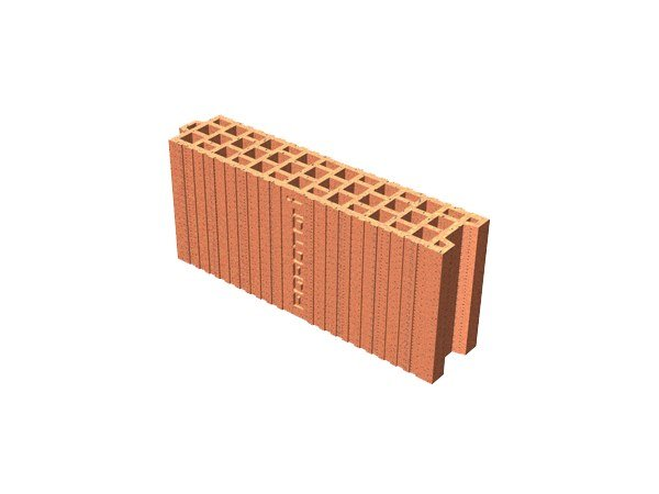 Clay block for internal partition POROTON® 10X45X19 by T2D