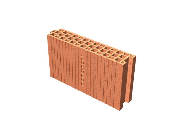 Clay block for internal partition POROTON® 10X45X24 by T2D