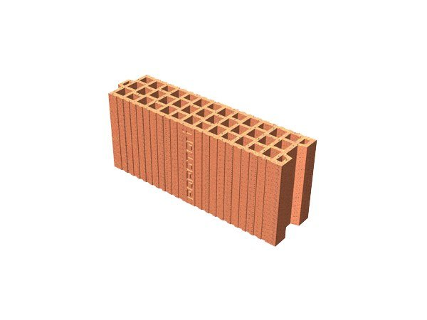 Clay block for internal partition POROTON® 12X45X19 by T2D
