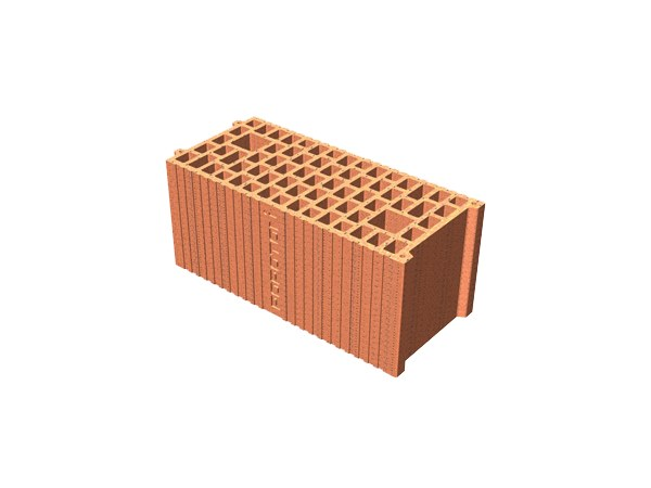 Clay block for internal partition POROTON® 20X45X19 by T2D