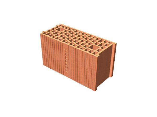 Clay block for internal partition POROTON® 20X45X24 by T2D