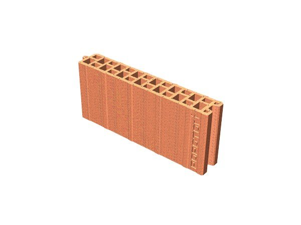 Clay block for internal partition POROTON® 8X45X19 by T2D
