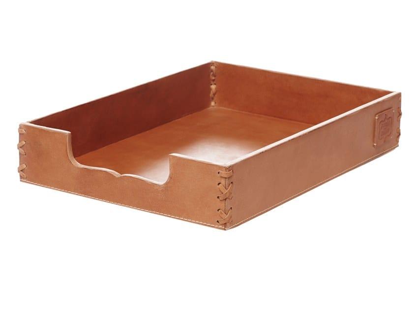 Leather desk tray organizer 365   Desk tray organizer by FROHSINN