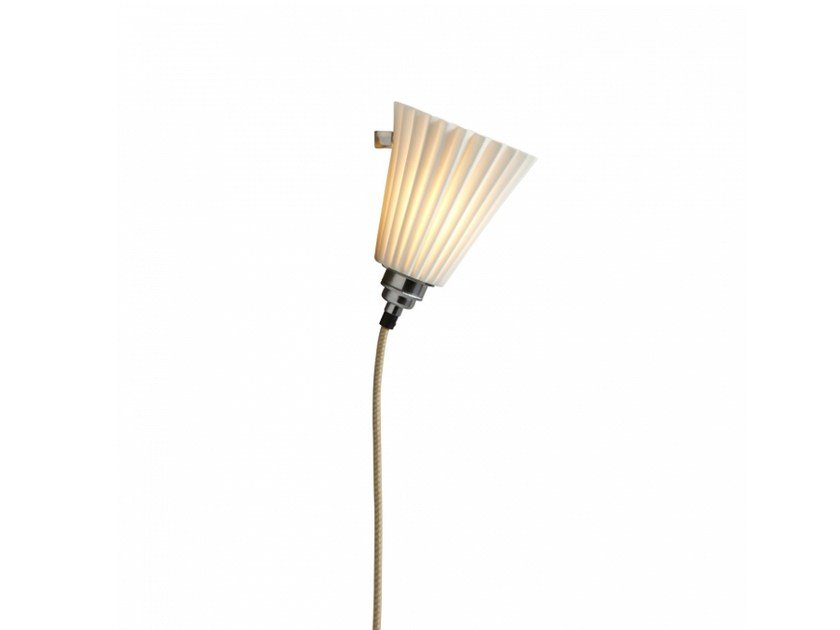Porcelain wall lamp with dimmer PORTABLE PLEAT MEDIUM by Original BTC