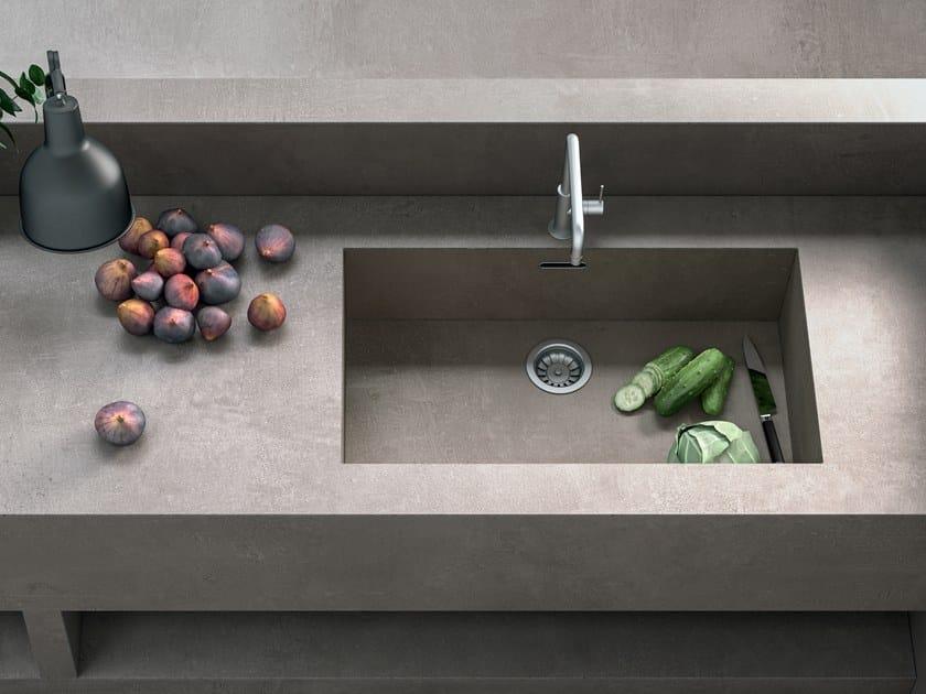Top cucina in gres porcellanato effetto cemento PORTLAND 3.0 By ...