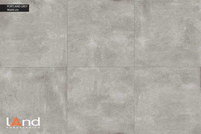 Pavimento in gres porcellanato tecnico effetto cemento PORTLAND GREY by Land Porcelanico
