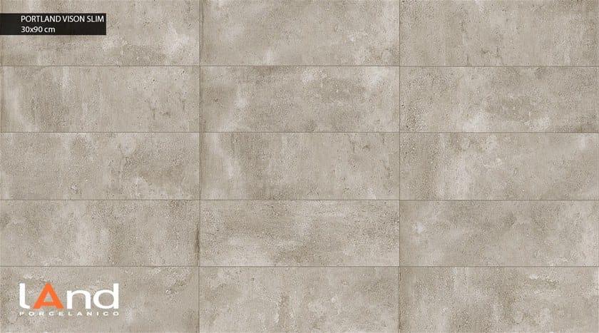 Rivestimento in gres porcellanato tecnico effetto cemento PORTLAND SLIM VISON by Land Porcelanico