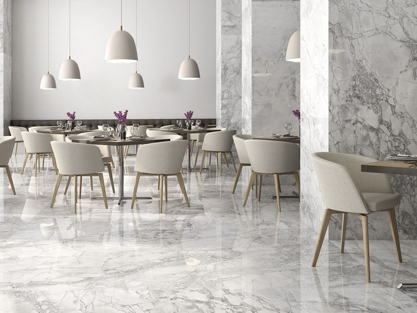 Sintered ceramic wall/floor tiles with marble effect PORTOBELLO by ITT Ceramic