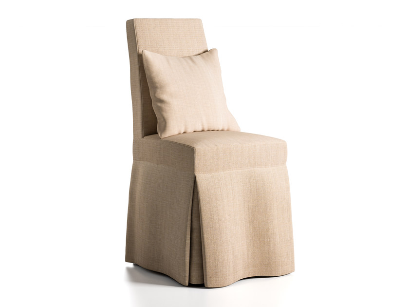 High-back fabric chair PORTOFINO by Caroti