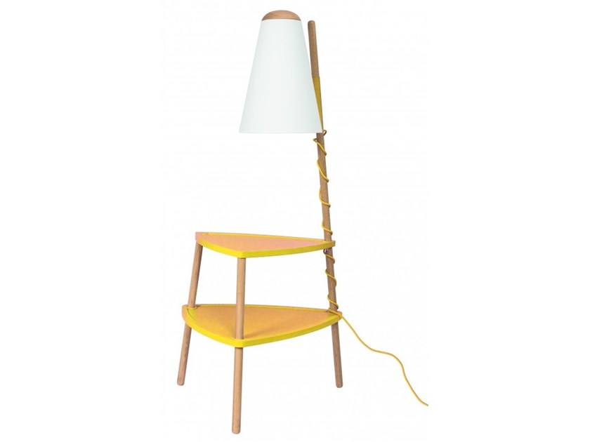 Wooden floor lamp / coffee table PORTOFINO by Flam & Luce