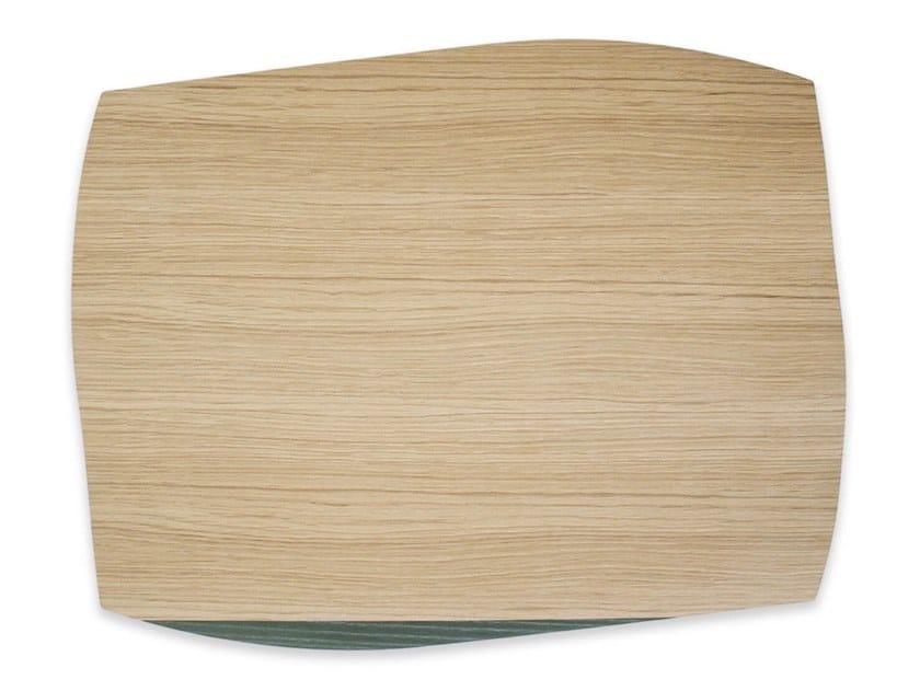 Tovaglietta rettangolare in legno PORTOFINO OAK DARK GREEN ASH | Tovaglietta rettangolare by LIGNIS®