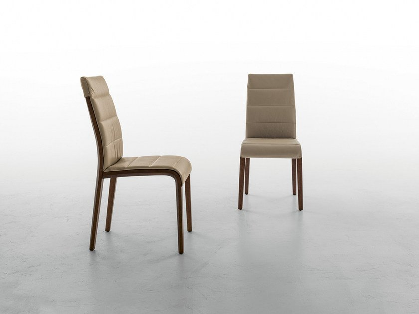 Upholstered leather chair PORTOFINO by Tonin Casa