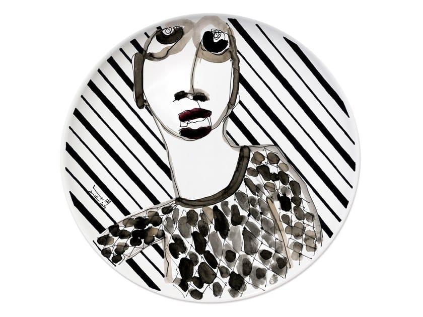 Ceramic dinner plate PORTRAIT I by Kiasmo