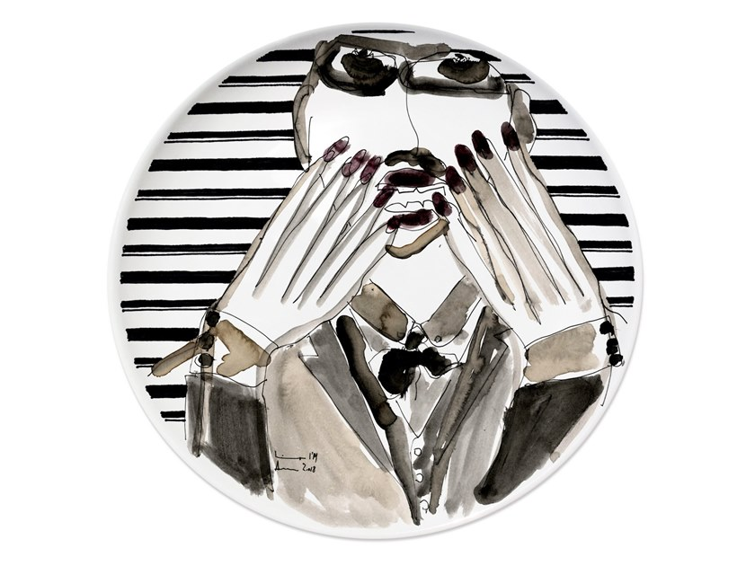 Ceramic dinner plate PORTRAIT III by Kiasmo
