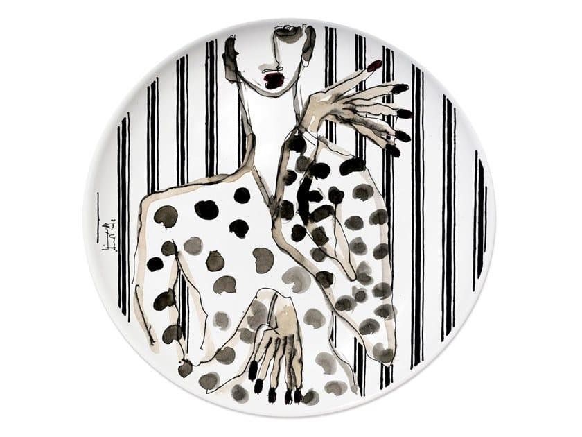 Ceramic dinner plate PORTRAIT V by Kiasmo