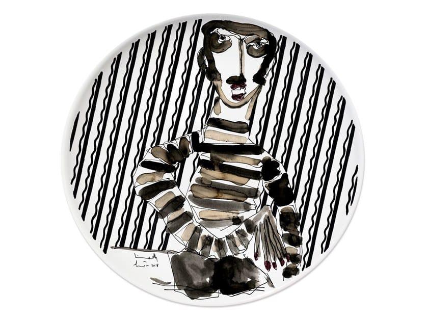 Ceramic dinner plate PORTRAIT VI by Kiasmo