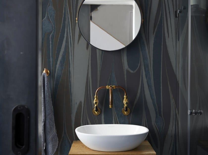 Bathroom wallpaper POSIDONIA by Wall&decò