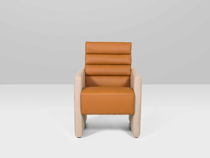 Leather armchair POSITANO | Armchair by Recor Home