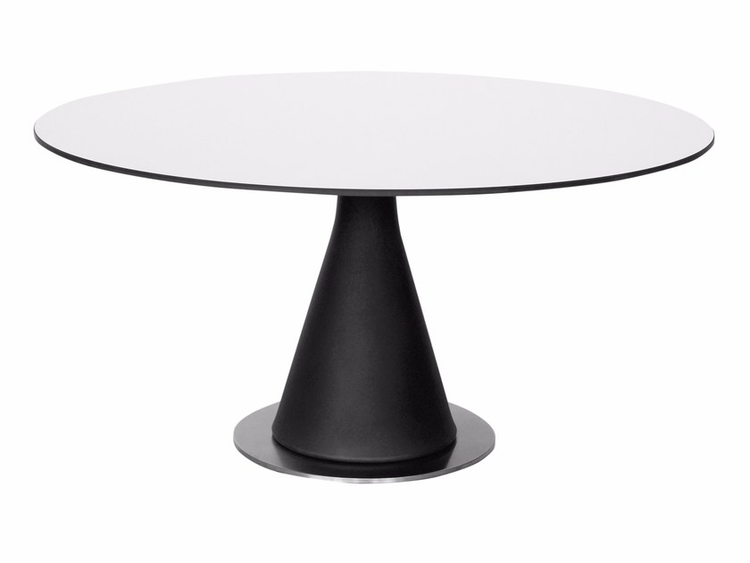 Round HPL table POT | Round table by calma