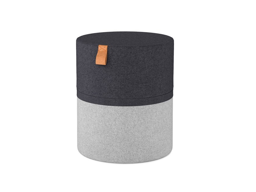 Round wool pouf with fire retardant padding POP 40 by OOT OOT