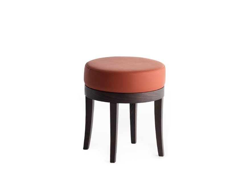 Low upholstered stool POUF 01313 by Montbel